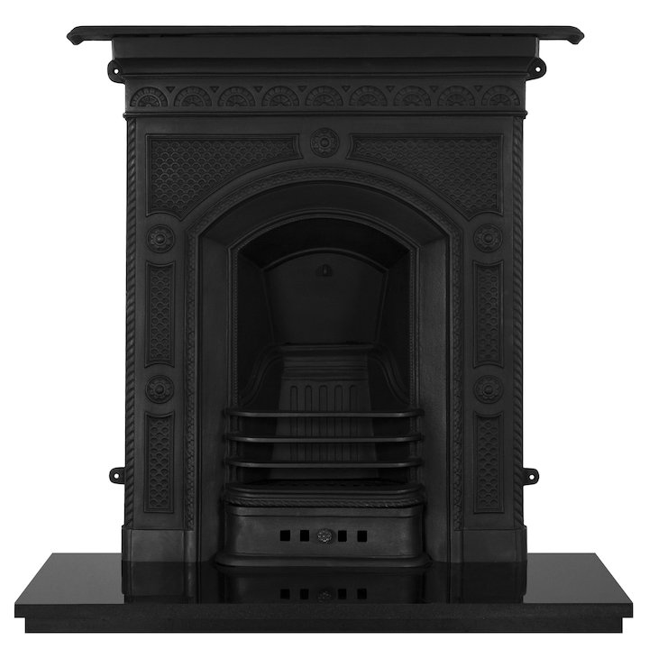 Carron Hawthorn Cast-Iron Fireplace Combination - Black