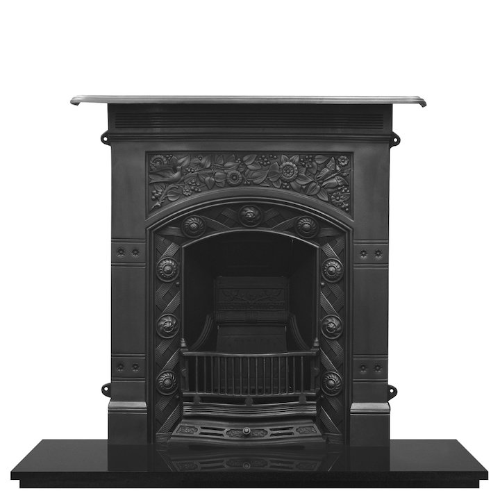 Carron Jekyll Cast-Iron Fireplace Combination - Black