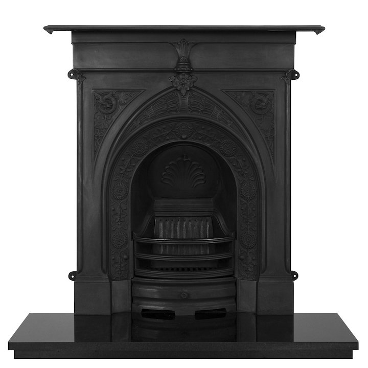 Carron Knaresborough Cast-Iron Fireplace Combination - Black