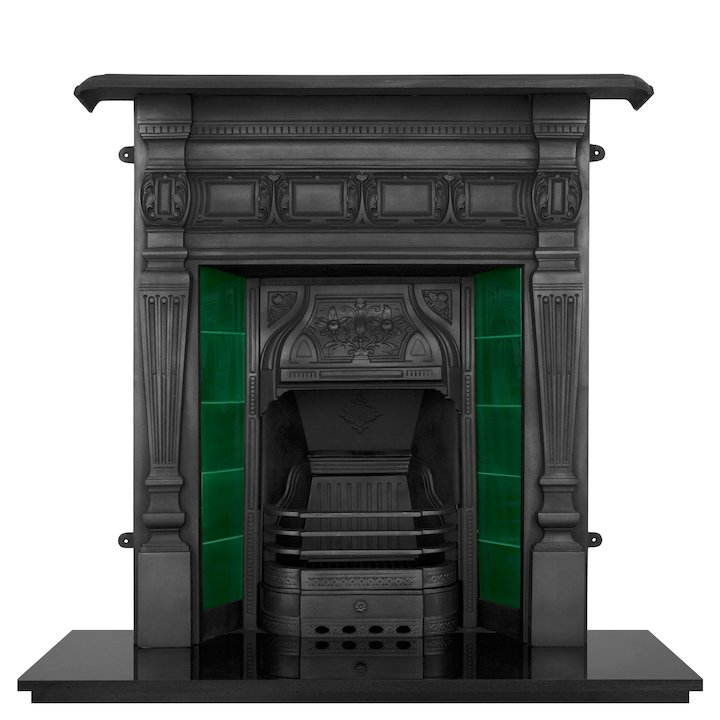Carron Lambourn Cast-Iron Fireplace Combination - Black