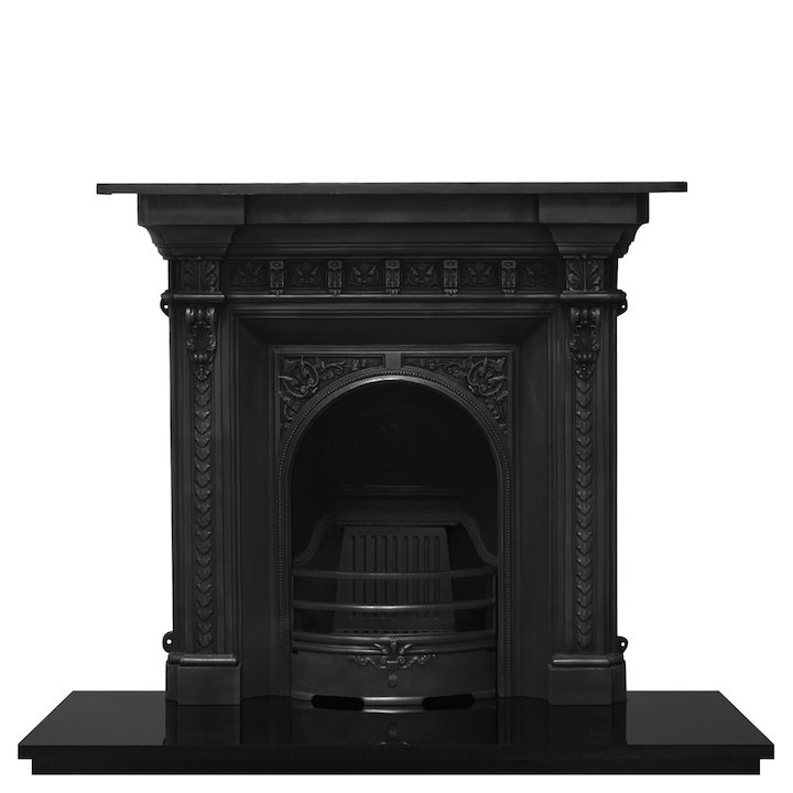 Carron Melrose Cast-Iron Fireplace Combination - Black