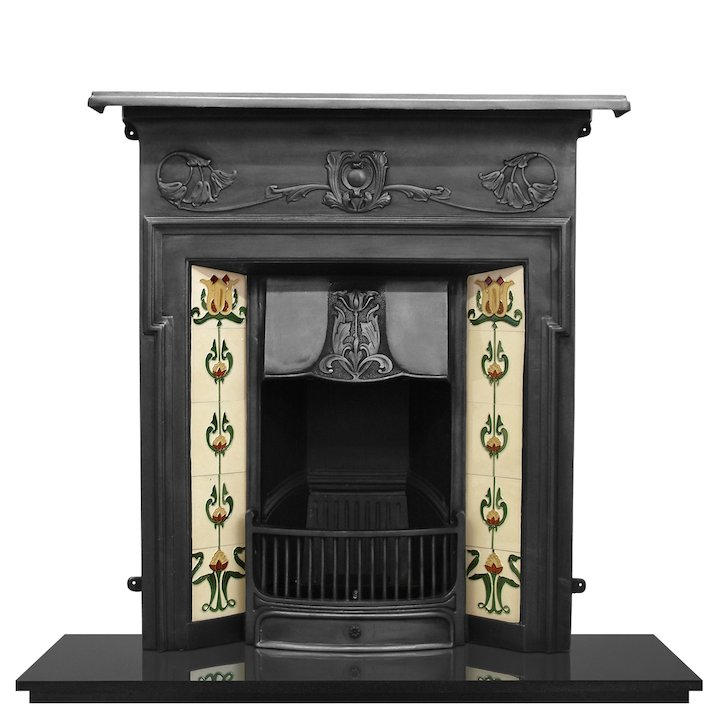 Carron Morris Cast-Iron Fireplace Combination - Black