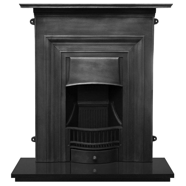 Carron Oxford Cast-Iron Fireplace Combination - Black