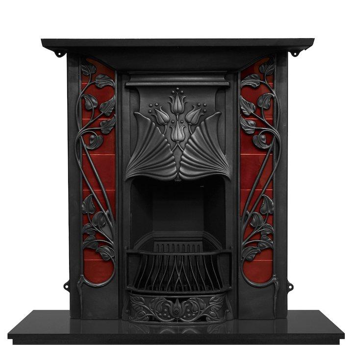 Carron Toulouse Cast-Iron Fireplace Combination - Black