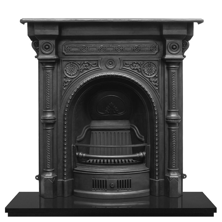 Carron Tweed Cast-Iron Fireplace Combination - Black