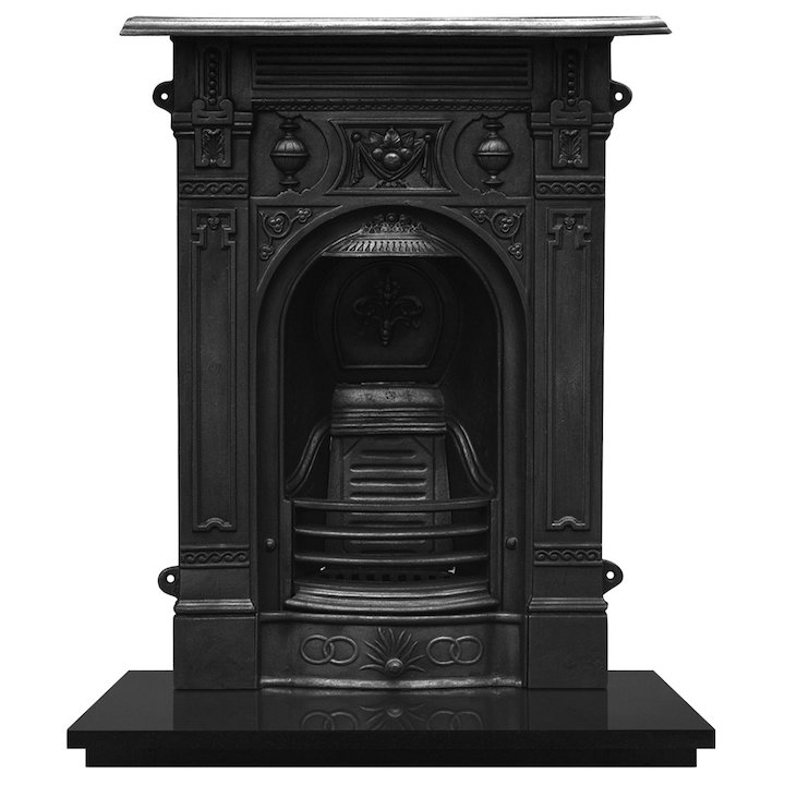 Carron Victorian Small Cast-Iron Fireplace Combination - Black