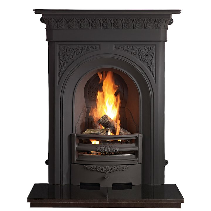 Gallery Nottage Cast-Iron Fireplace Combination - Black
