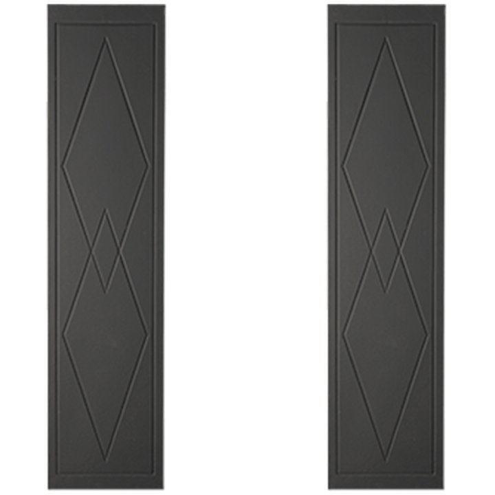 Cast-Tec Art Deco Cast-Iron Fireplace Tile Panels - Black