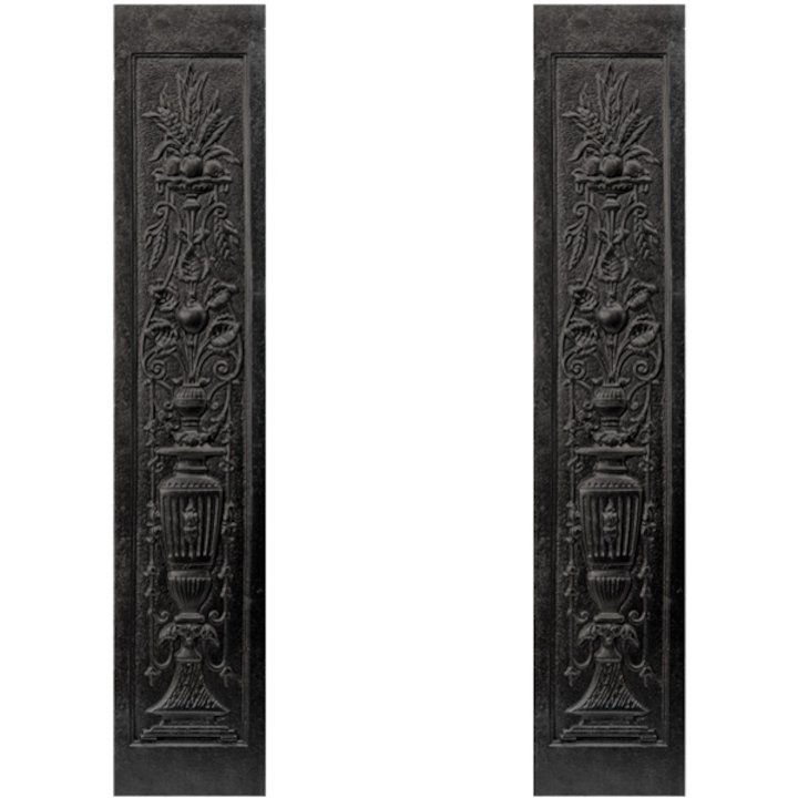Stovax Urn Cast-Iron Fireplace Tile Panels - Black