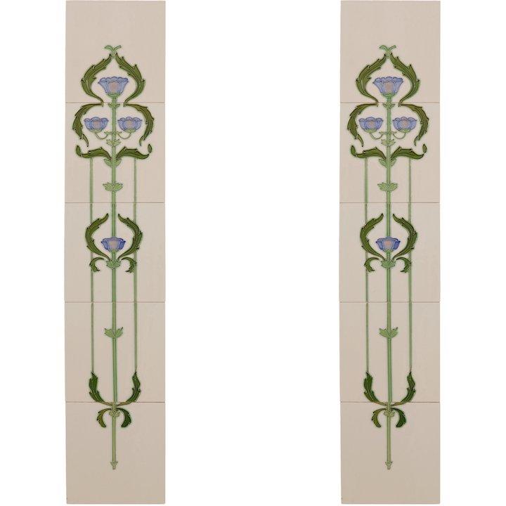 Carron LGC011 Tubelined Single Ceramic Fireplace Tile - Ivory