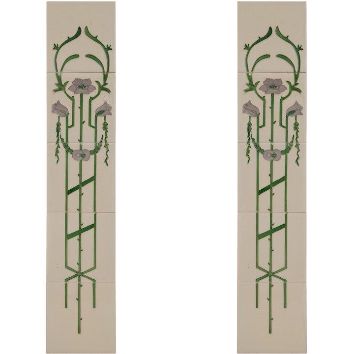 Carron LGC014 Tubelined Single Ceramic Fireplace Tile - Ivory