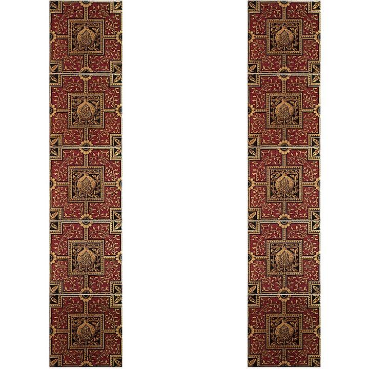 Gallery Warwick Empress Ceramic Fireplace Tile Set - Red