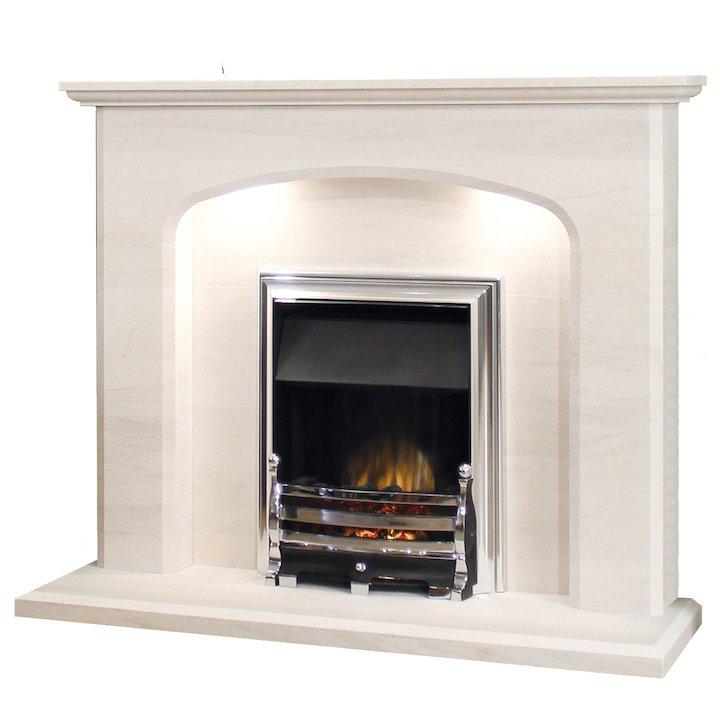 Newman Avalade 42 Portuguese Limestone Fireplace Limestone Fireplaces
