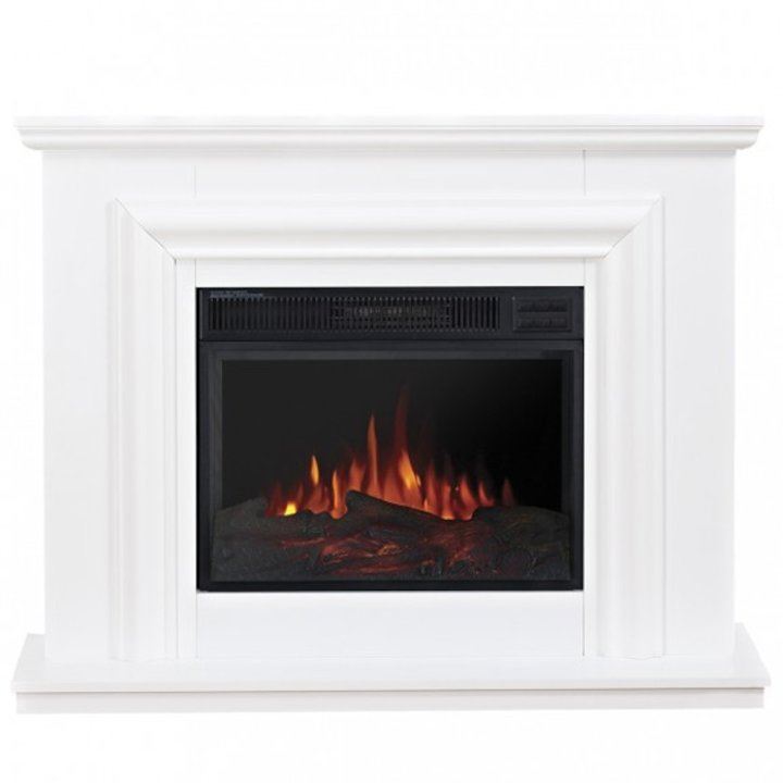 Ekofires 1200 Electric Fireplace Suite - White