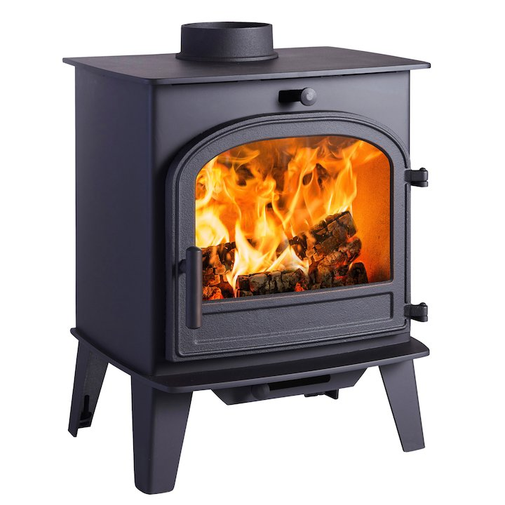 Cleanburn Lovenholm Wood Stove - Black