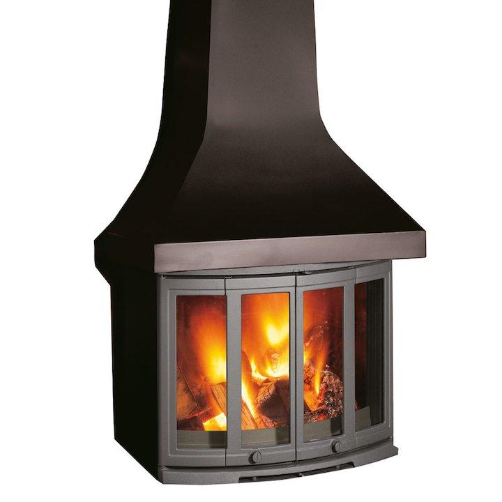 Dovre 2400 Wood Fireplace - Black
