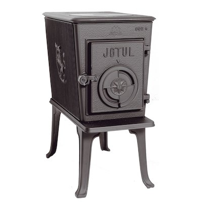Jotul F602 Wood Stove Black Solid Cast Door