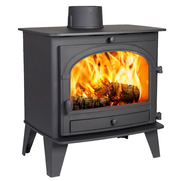 Parkray Consort 9 Wood Stove Black Single Door - Black