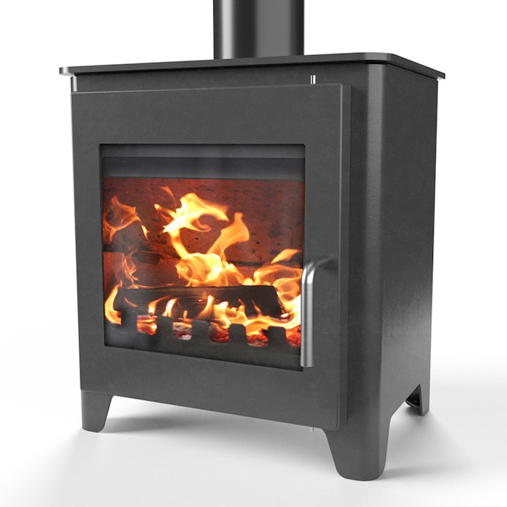 Saltfire ST1 Vision Wood Stove - Charcoal