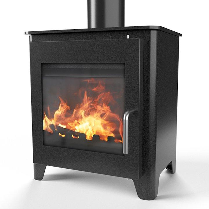 Saltfire ST1 Vision Wood Stove - Metallic Black