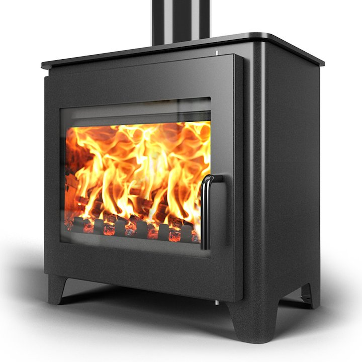 Saltfire ST3 Wood Stove - Metallic Black