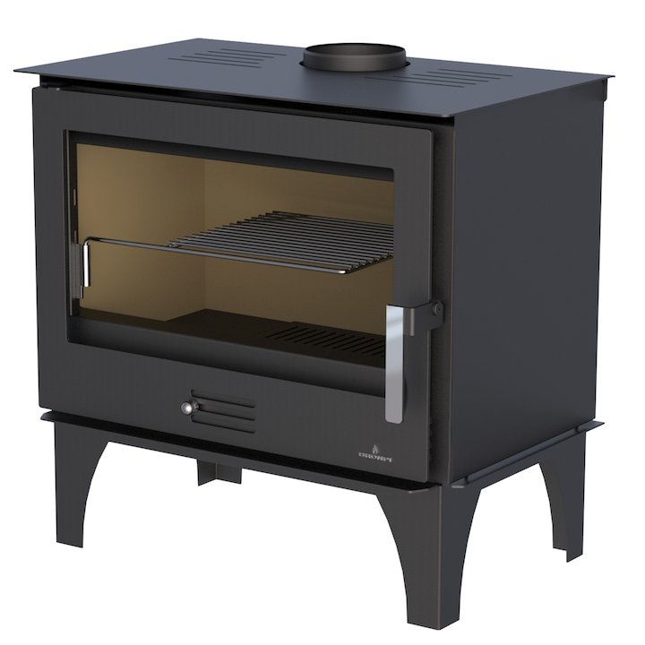Bronpi Sena Plus Wood Stove - Black