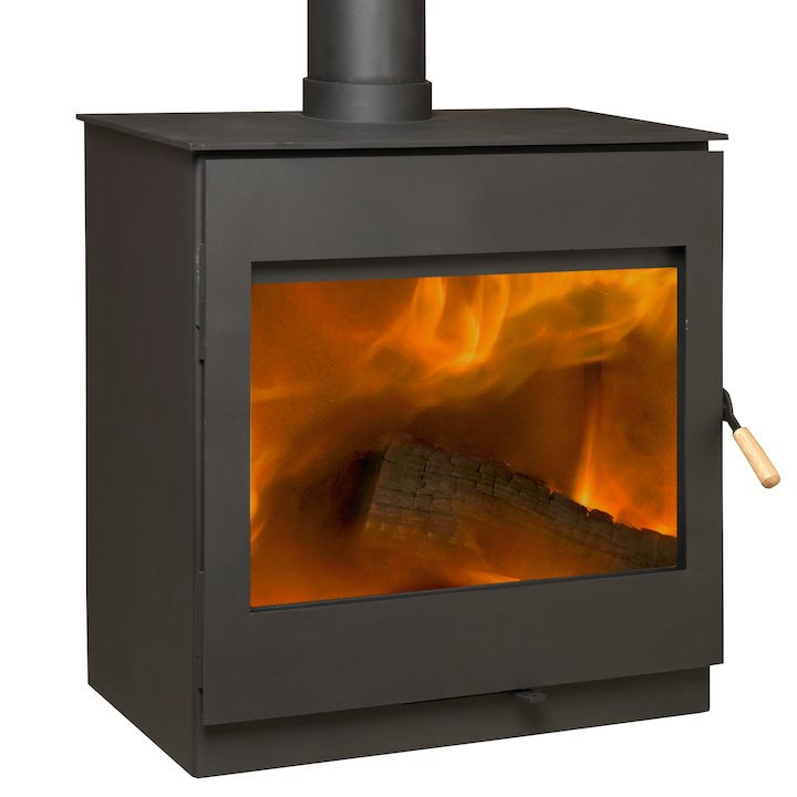 Burley Bosworth 12 Firecube Wood Stove - Black