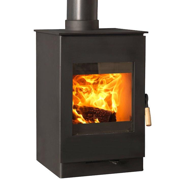 Burley Bradgate 5 Firecube Wood Stove - Black