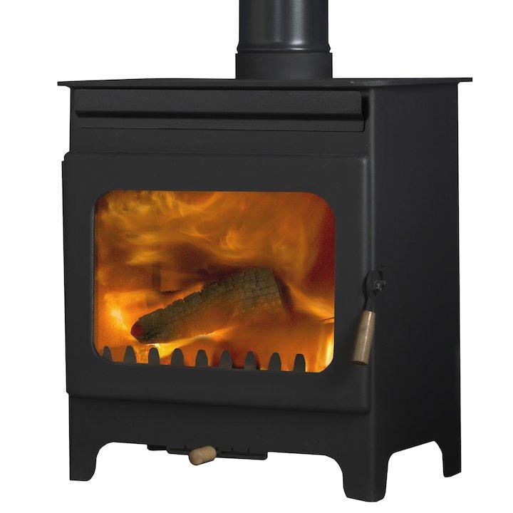 Burley Brampton 8 Fireball Wood Stove - Black