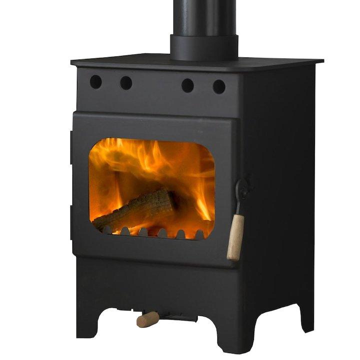 Burley Debdale 4 Fireball Wood Stove - Black