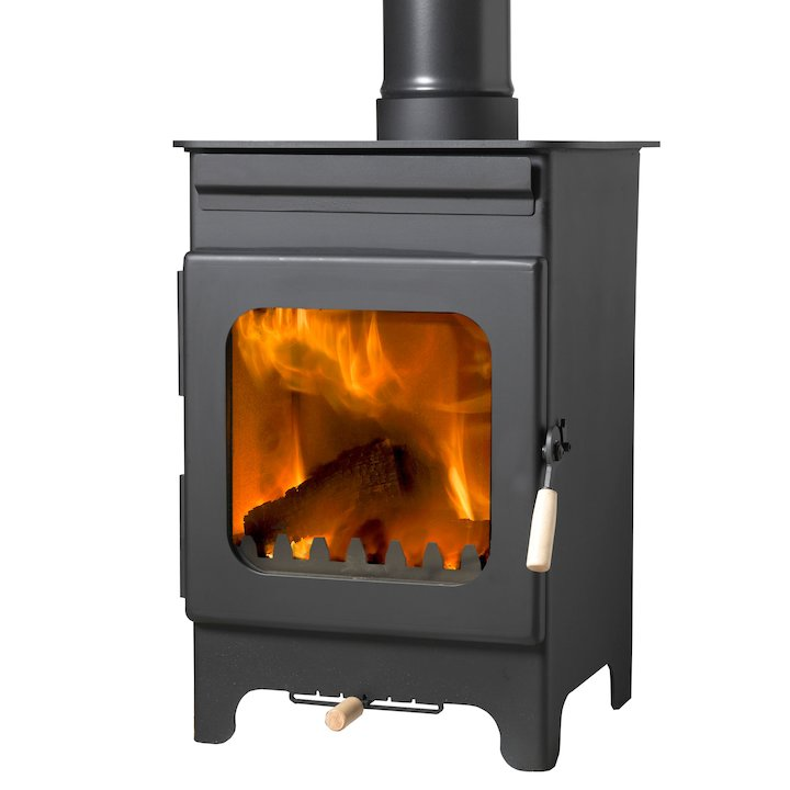 Burley Hollywell 5 Fireball Wood Stove - Black