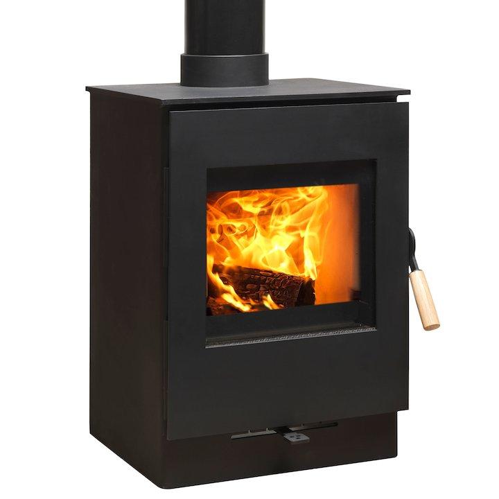 Burley Launde 4 Firecube Wood Stove - Black