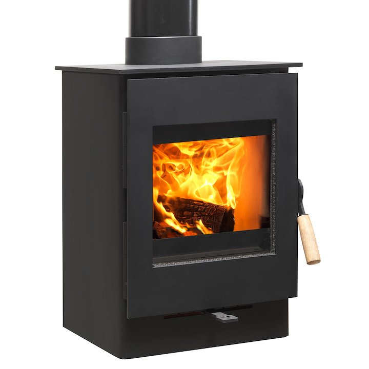 Burley Owston 3 Firecube Wood Stove - Black