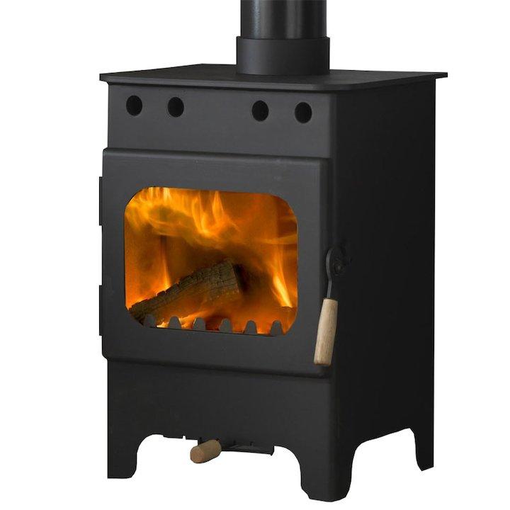 Burley Springdale 3 Fireball Wood Stove - Black