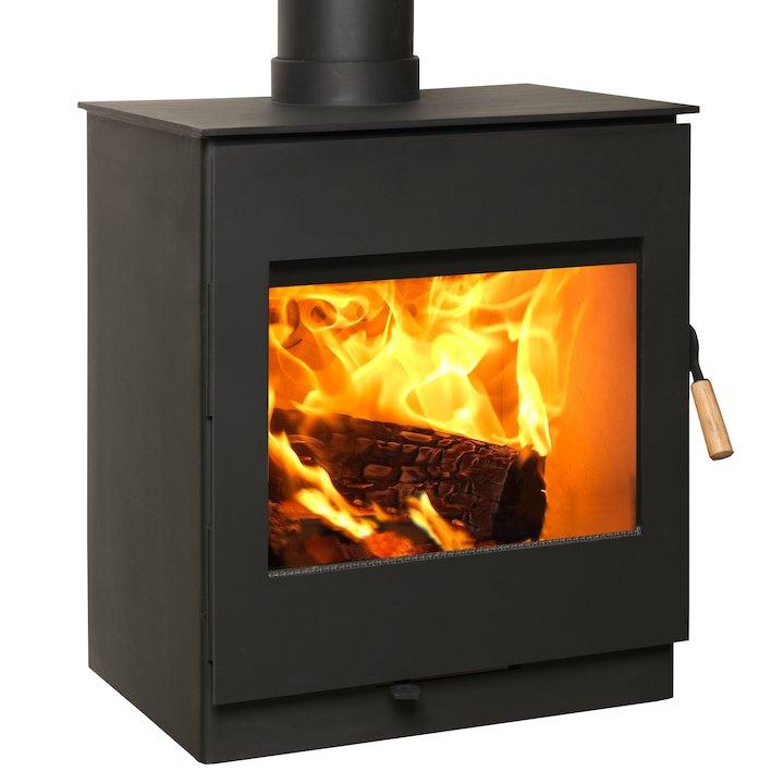 Burley Swithland 8 Firecube Wood Stove - Black