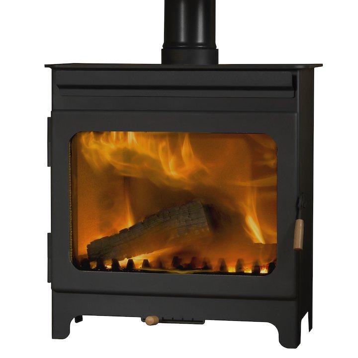 Burley Wakerley 12 Fireball Wood Stove - Black