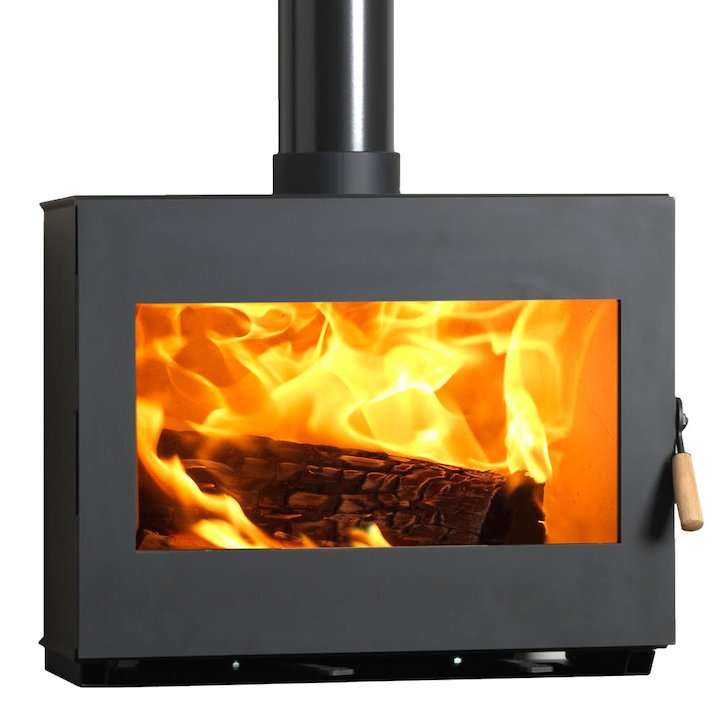 Burley Briary 7 Panoramic Wood Stove - Black
