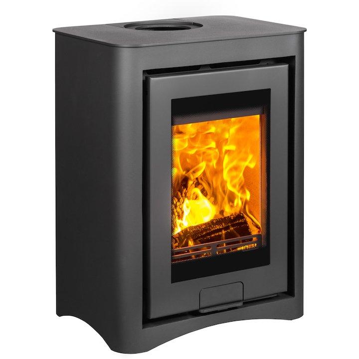 Di Lusso R4 Cube Wood Stove Black Arco - Black
