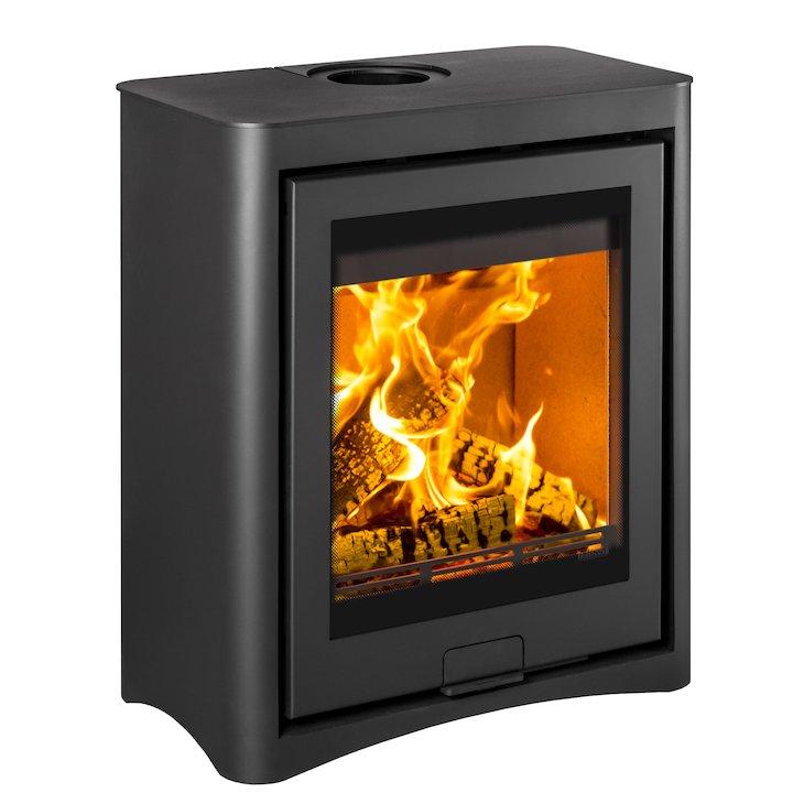 Di Lusso R5 Cube Wood Stove Black Arco - Black