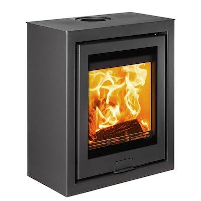 Di Lusso R5 Cube Wood Stove Black Quattro