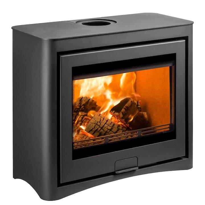 Di Lusso R6 Cube Wood Stove Black Arco - Black