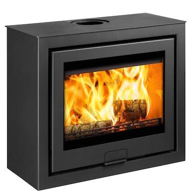 Di Lusso R6 Cube Wood Stove Black Quattro