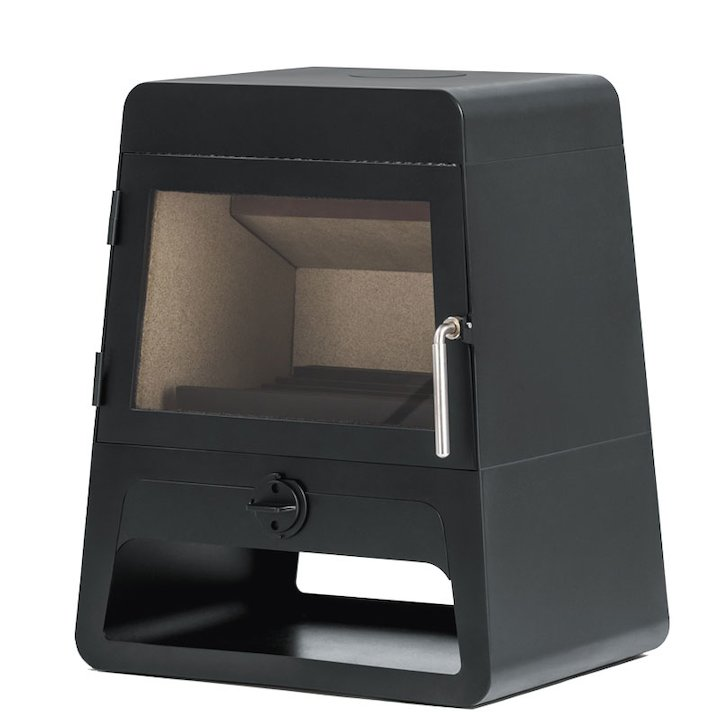 Future Fires Bollente Wood Stove - Charcoal