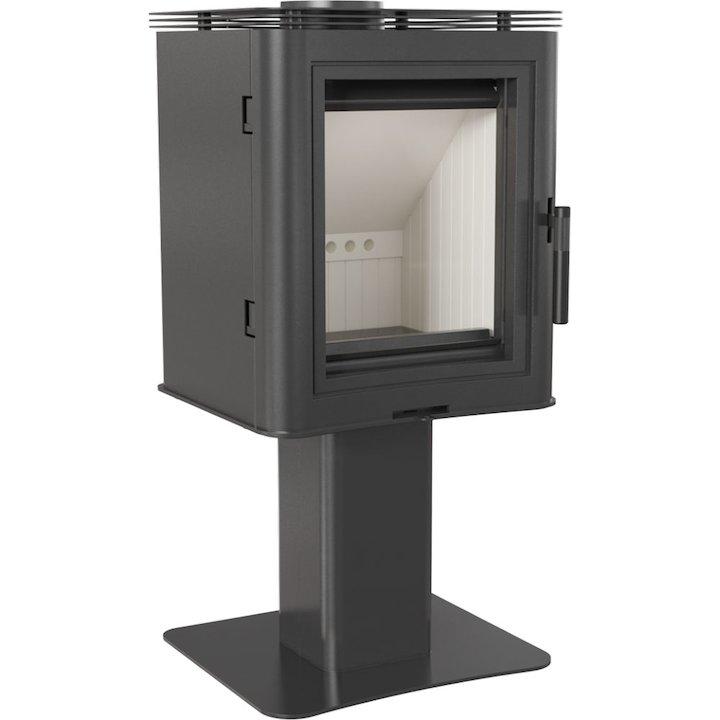 Kratki Koza K5 Pedestal Wood Stove - Black