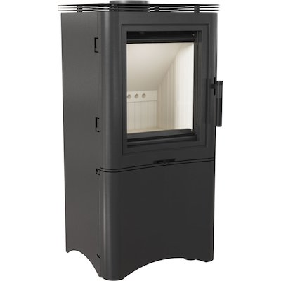 Kratki Koza K5 Logstore Wood Stove Black Logstore with Door