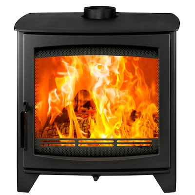 Parkray Aspect 14 Wood Stove Black Black Handles