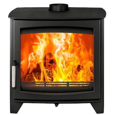Parkray Aspect 14 Wood Stove Black Silver Handles
