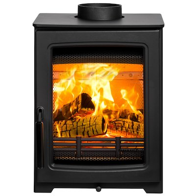Parkray Aspect 4 Compact Wood Stove Black Black Handles