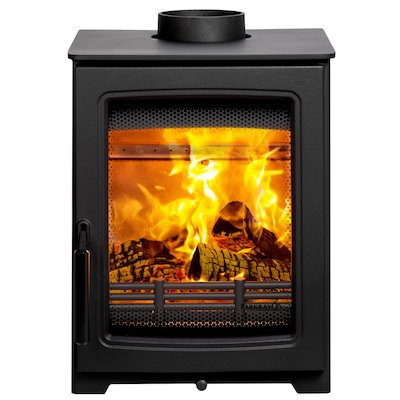 Parkray Aspect 4 Wood Stove Black Black Handles
