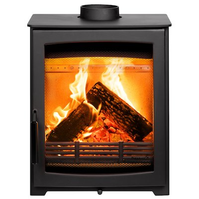 Parkray Aspect 5 Compact Wood Stove Black Black Handles